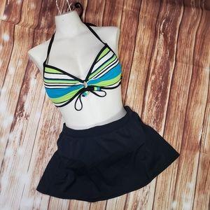 La Vie en Rose Push-Up Bikini Swim Skirt Swimsuit